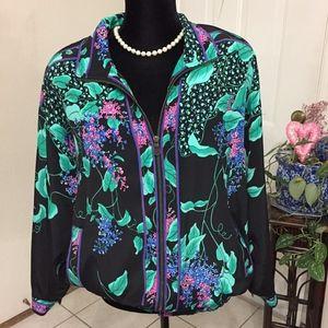 GDT TOO Black Floral Jacket   (one size)  (B5)